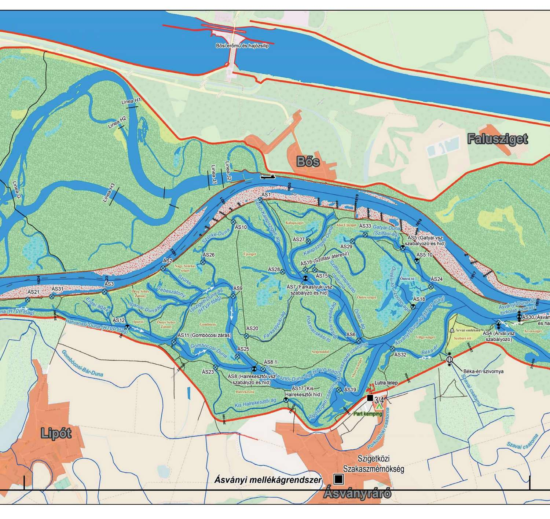 szigetköz térkép Vadvíz Kemping Dunakiliti Szigetköz   Kenubérlet Vízitúra Túrázás  szigetköz térkép